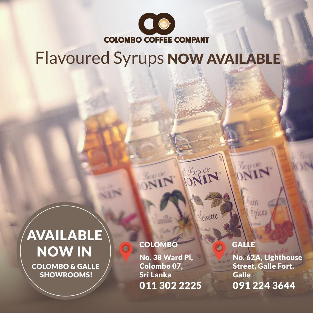 Flavoured Syrups Now Available!
